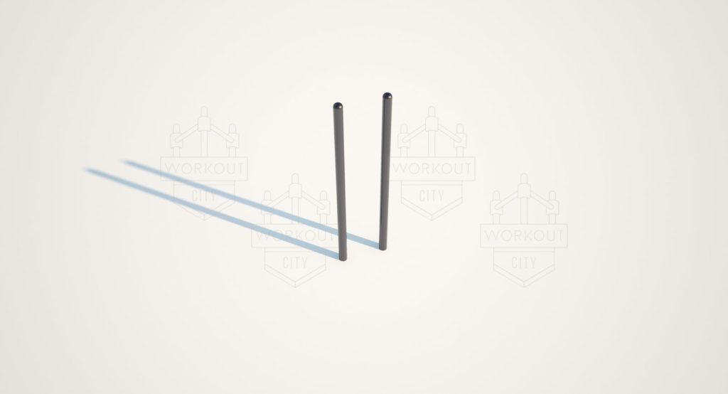 Секция из брусьев овальных, трех высоких, средней и низкой перекладины WS-27